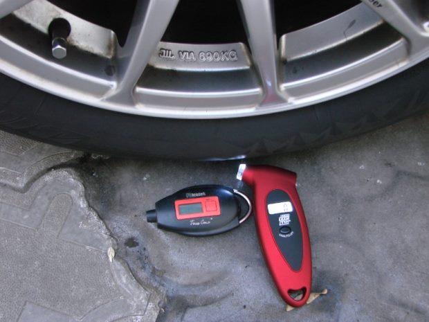 Давление в покрышках автомобиля
