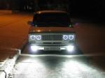 светодиодные ангельские глазки на ВАЗ 2106