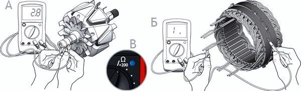 Как проверить генератор с помощью мультиметра