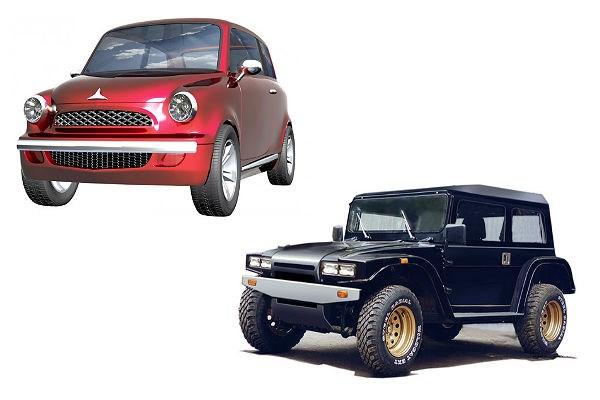 Новый ГАЗ 69 и горбатый Запорожец (Вожак)